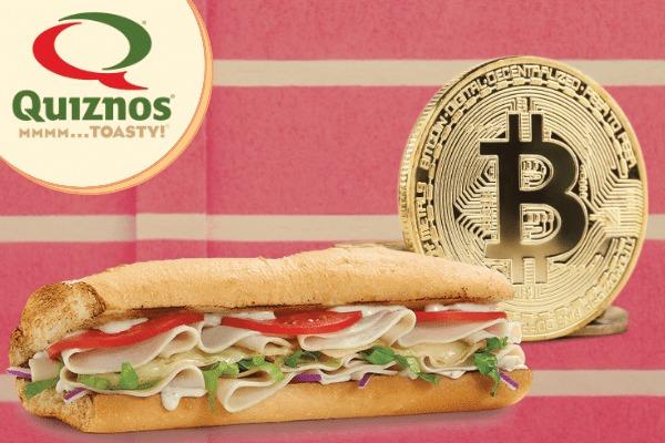 Các cửa hàng Quiznos Sandwich sẽ cung cấp thanh toán bằng Bitcoin