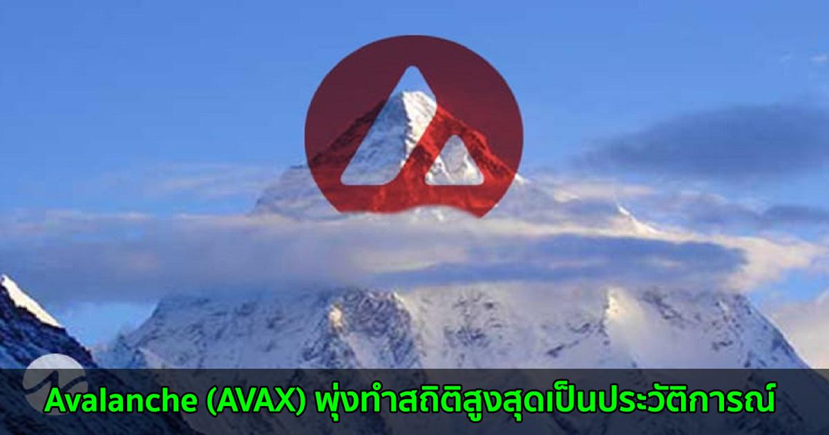 Avalanche (AVAX) พุ่งทำสถิติสูงสุดเป็นประวัติการณ์