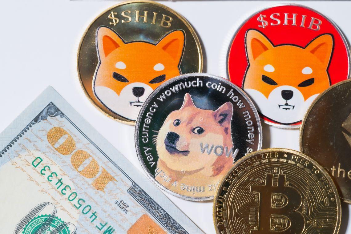 Dogecoin oscilla e la sua crypto-meme Shiba Inu schizza a +35% in 24 ore
