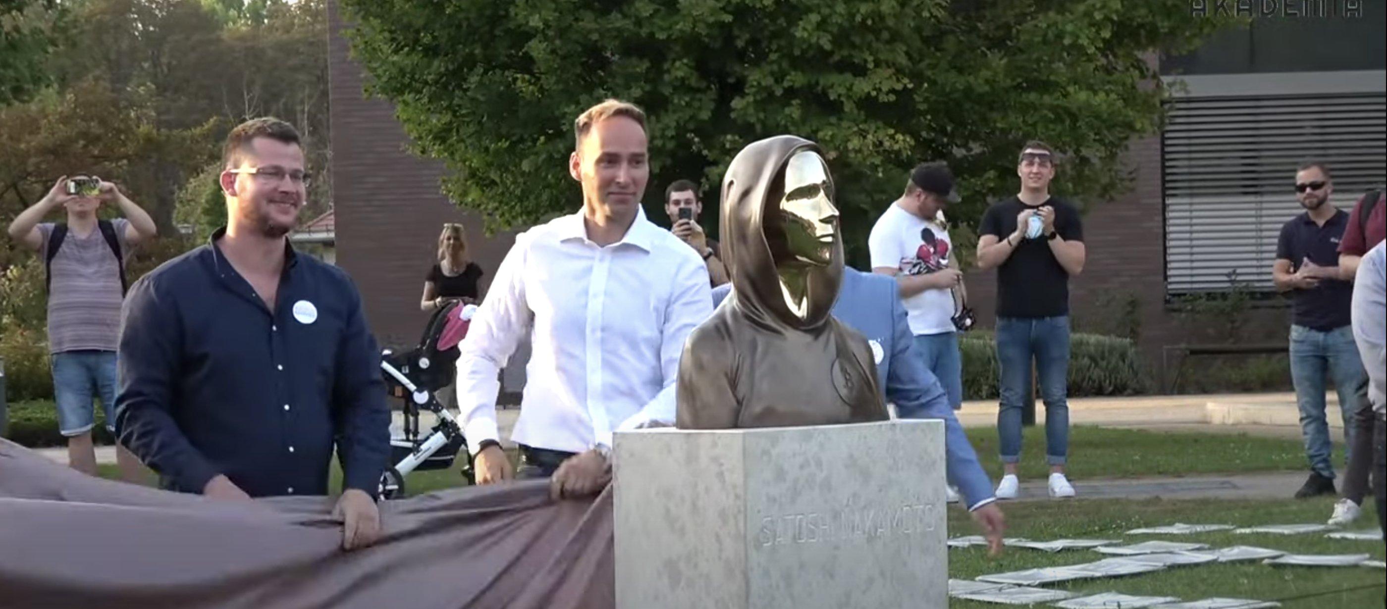 Satoshi Nakamoto Statue Unveiled