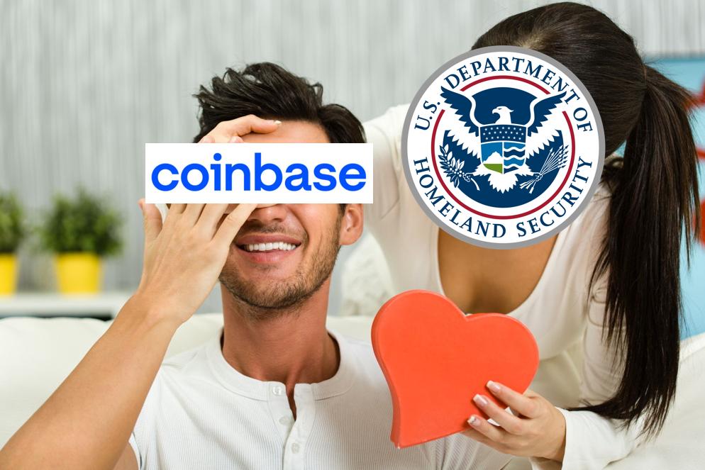 美國土安全部與 Coinbase「簽下」136萬美元聯邦合約,為先前的 15~50 倍