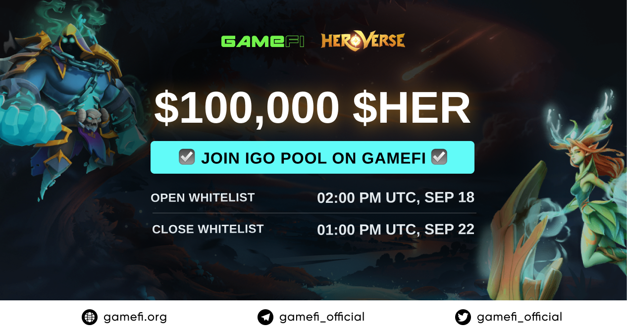 Chi tiết IGO pool và Community Pool của HeroVerse (HER)