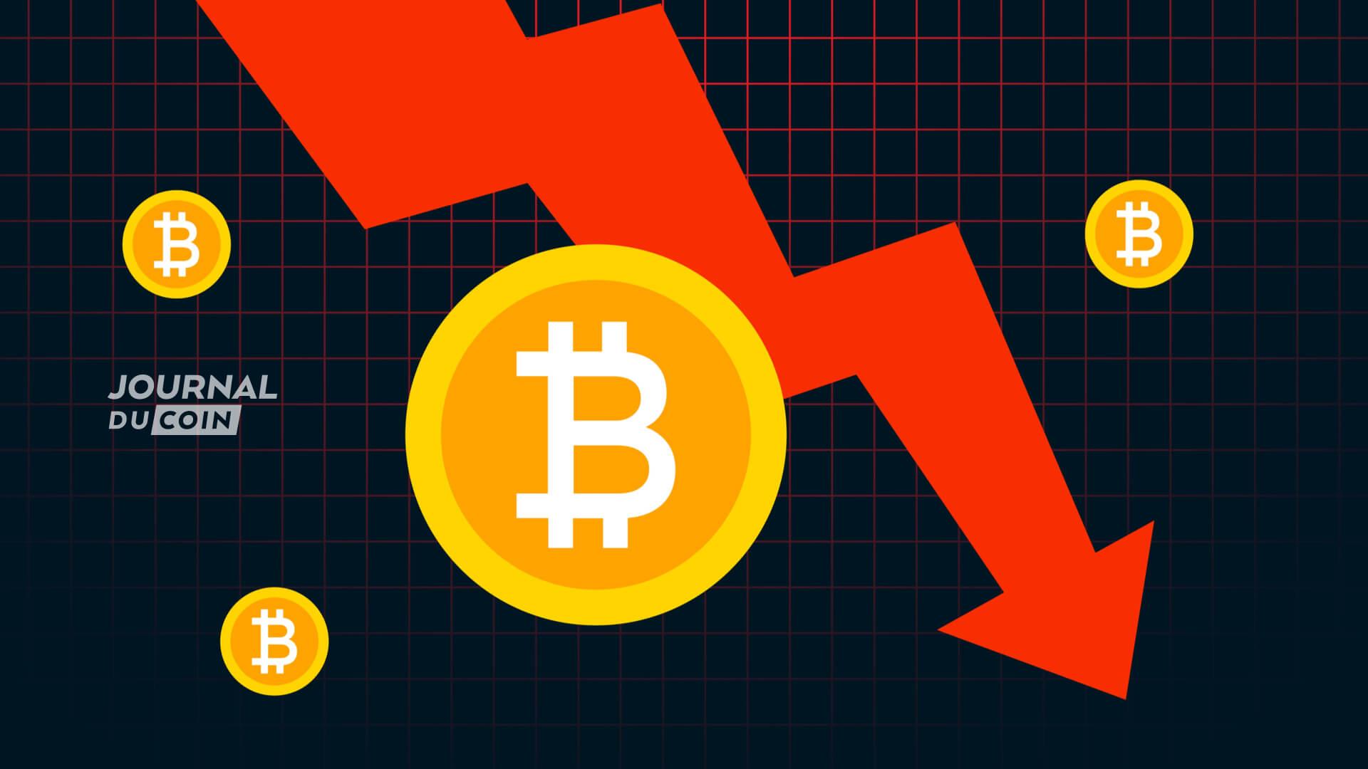 Panique sur les marchés des cryptomonnaies : nuit noire sur le Bitcoin (BTC), qui dévisse en dessous des 39 000 €