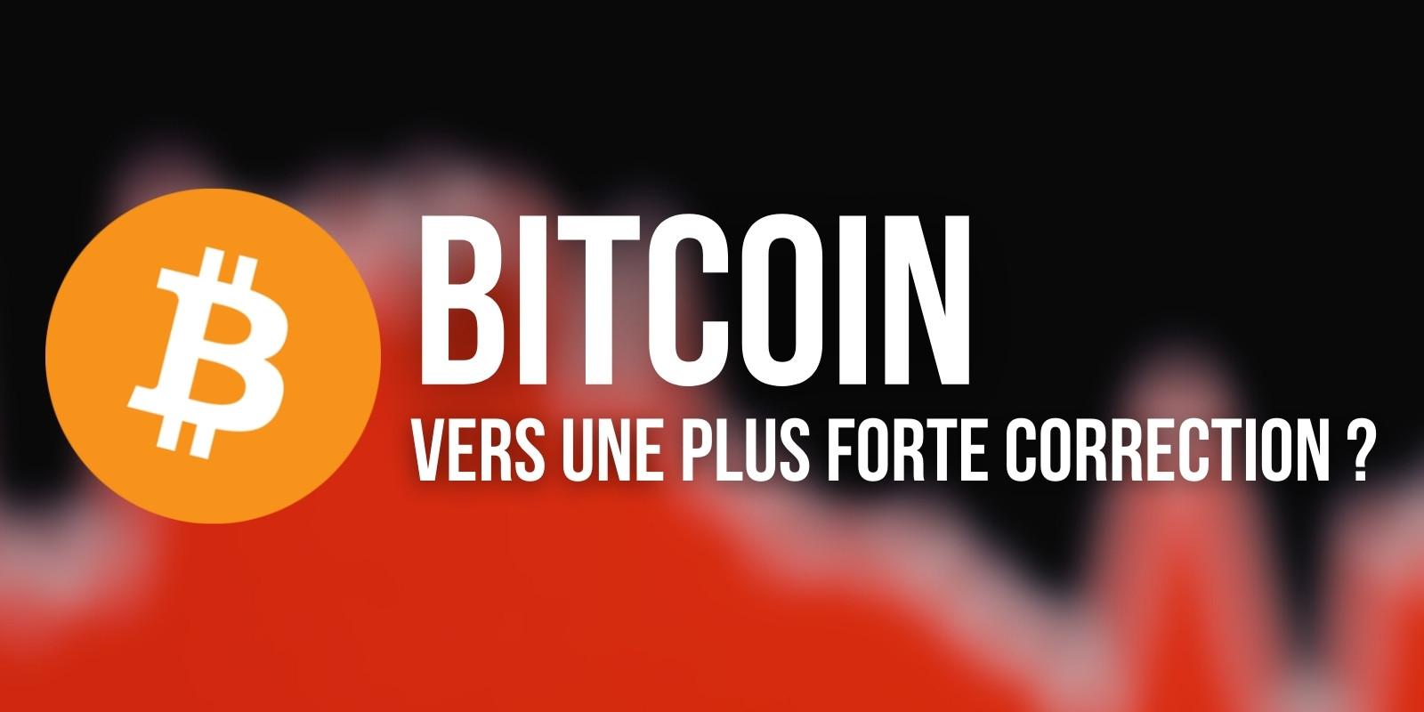 Est-ce le début d'une correction plus forte pour le Bitcoin (BTC) ?
