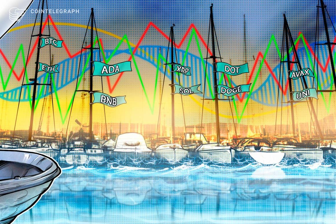 Análisis de precios del 22 de septiembre: BTC, ETH, ADA, BNB, XRP, SOL, DOT, DOGE, AVAX, UNI
