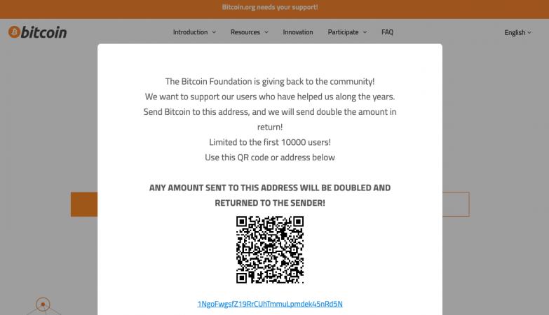 เว็บไซต์ Bitcoin.org โดนแฮ็กถูกนำไปใช้ในแคมเปญต้มตุ๋นหลอกโอน Bitcoin