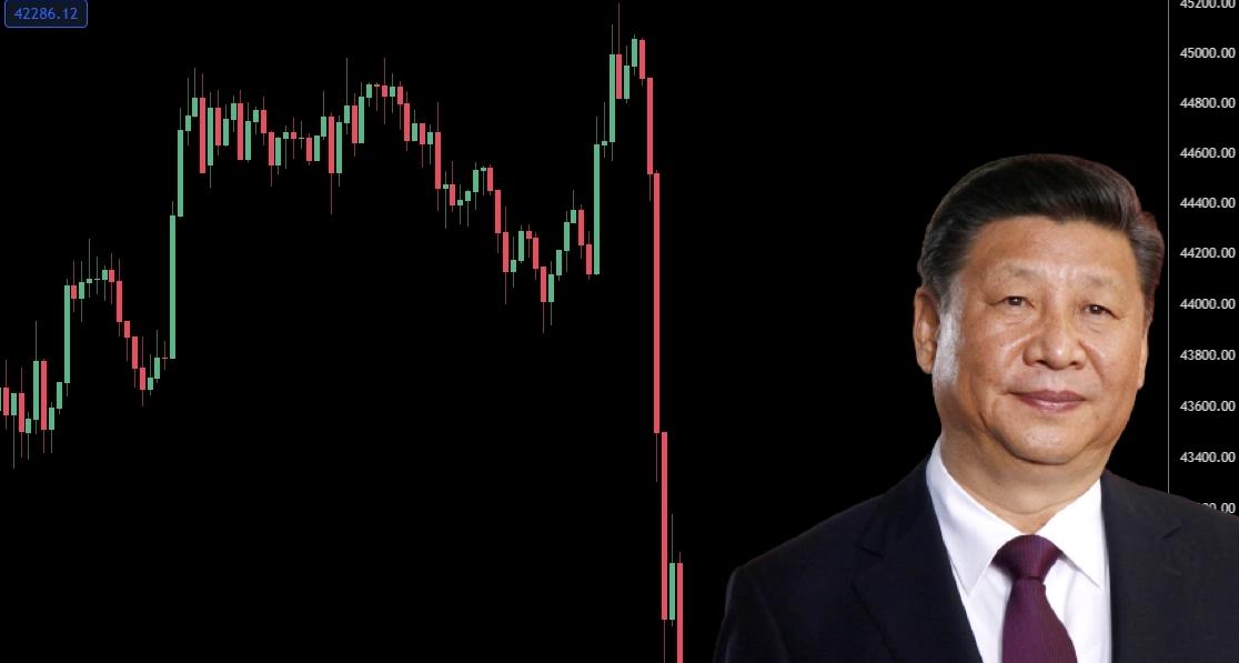 中國央行突發難 : 境外交易所服務中國也算非法金融活動、虛擬貨幣不具法償性;BTC ETH急挫7%