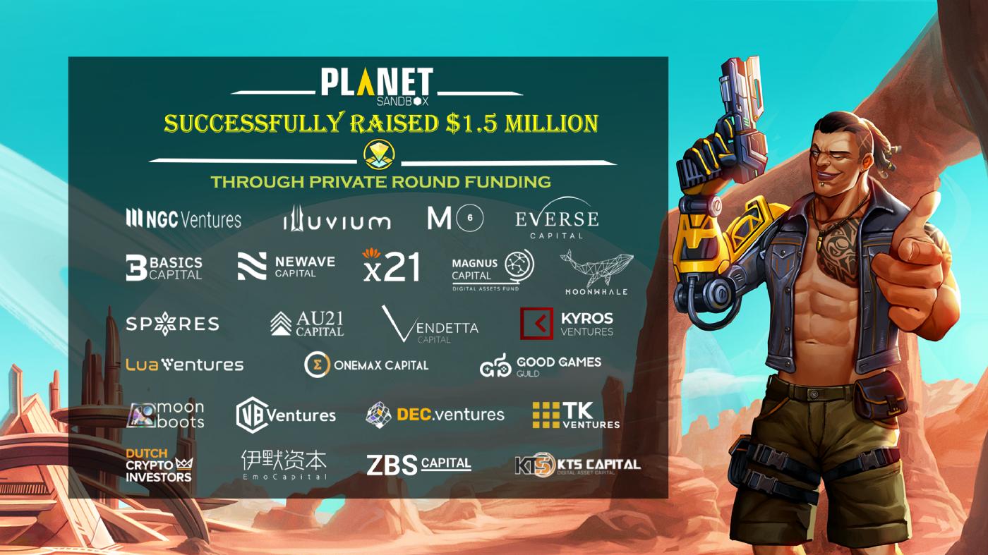 Planet Sandbox huy động thành công 1,5 triệu USD trong vòng Private Sale