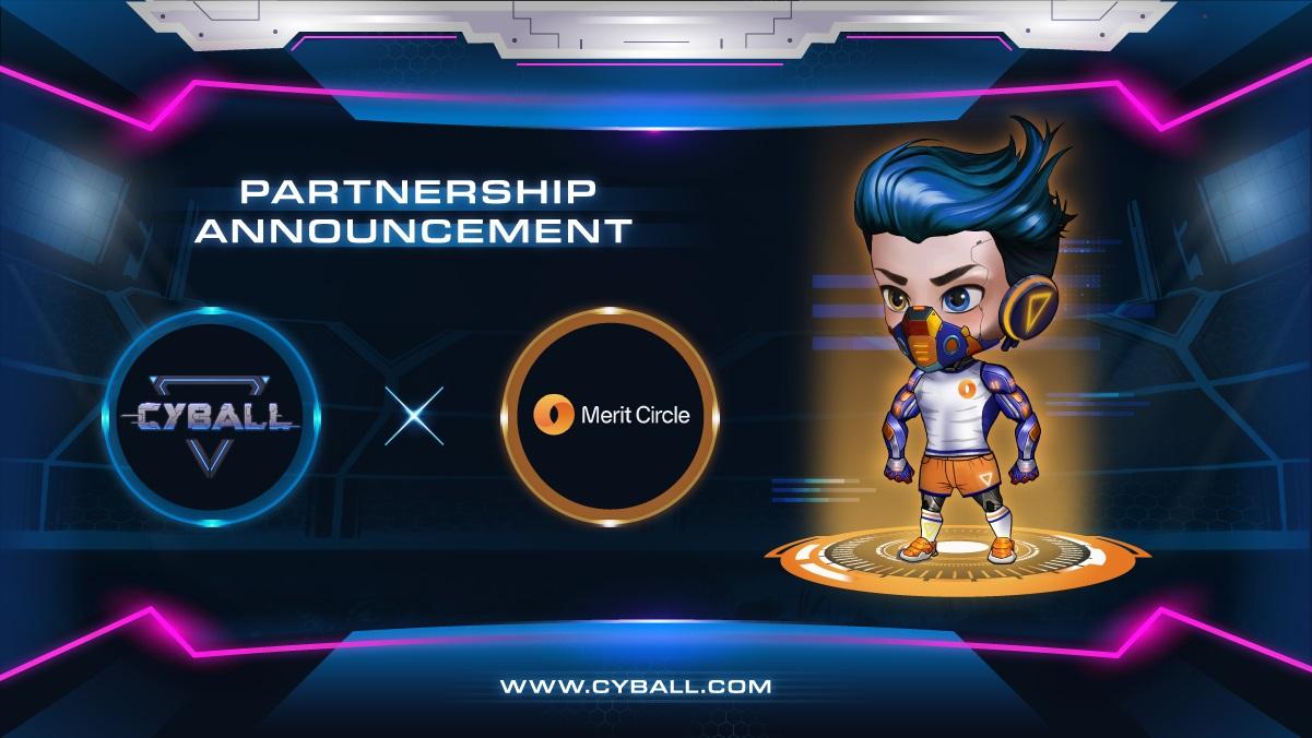 CyBall – dự án game NFT hot nhất hiện nay thông báo quan hệ hợp tác với Merit Circle Decentralized Gaming Guild