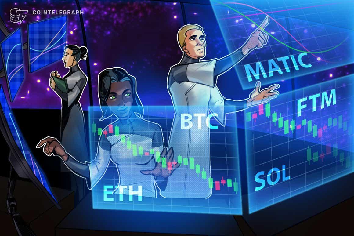 5 principais criptomoedas para acompanhar esta semana: BTC, ETH, SOL, MATIC, FTM