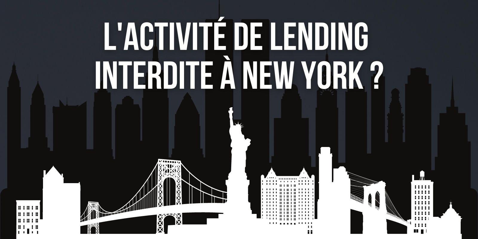 La procureure générale de New York exige l'arrêt de l'activité des plateformes de lending non enregistrées