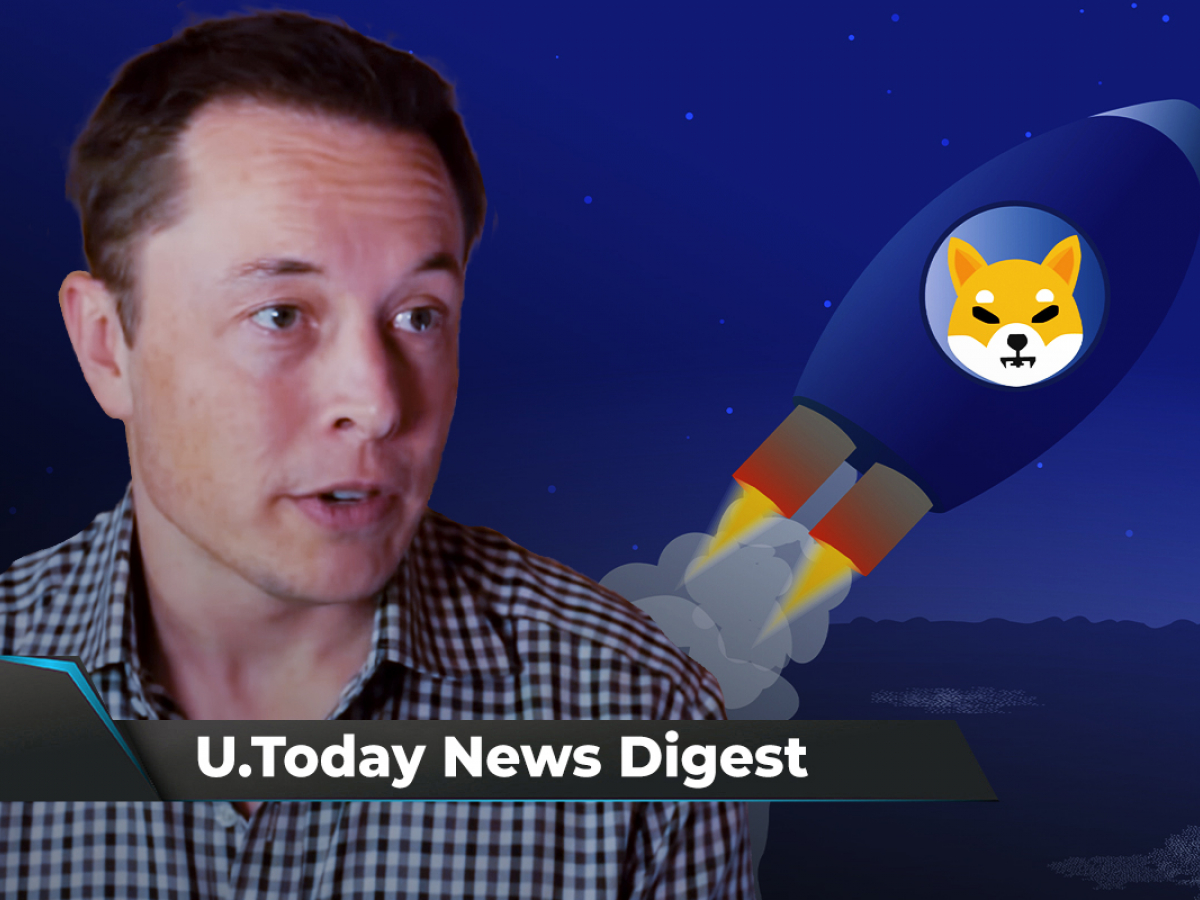 Elon Musk Pushes SHIB Up 15%, Binance Burns $639 Million Worth of BNB, ProShares Launches Bitcoin ETF: Crypto News Digest by U.Today