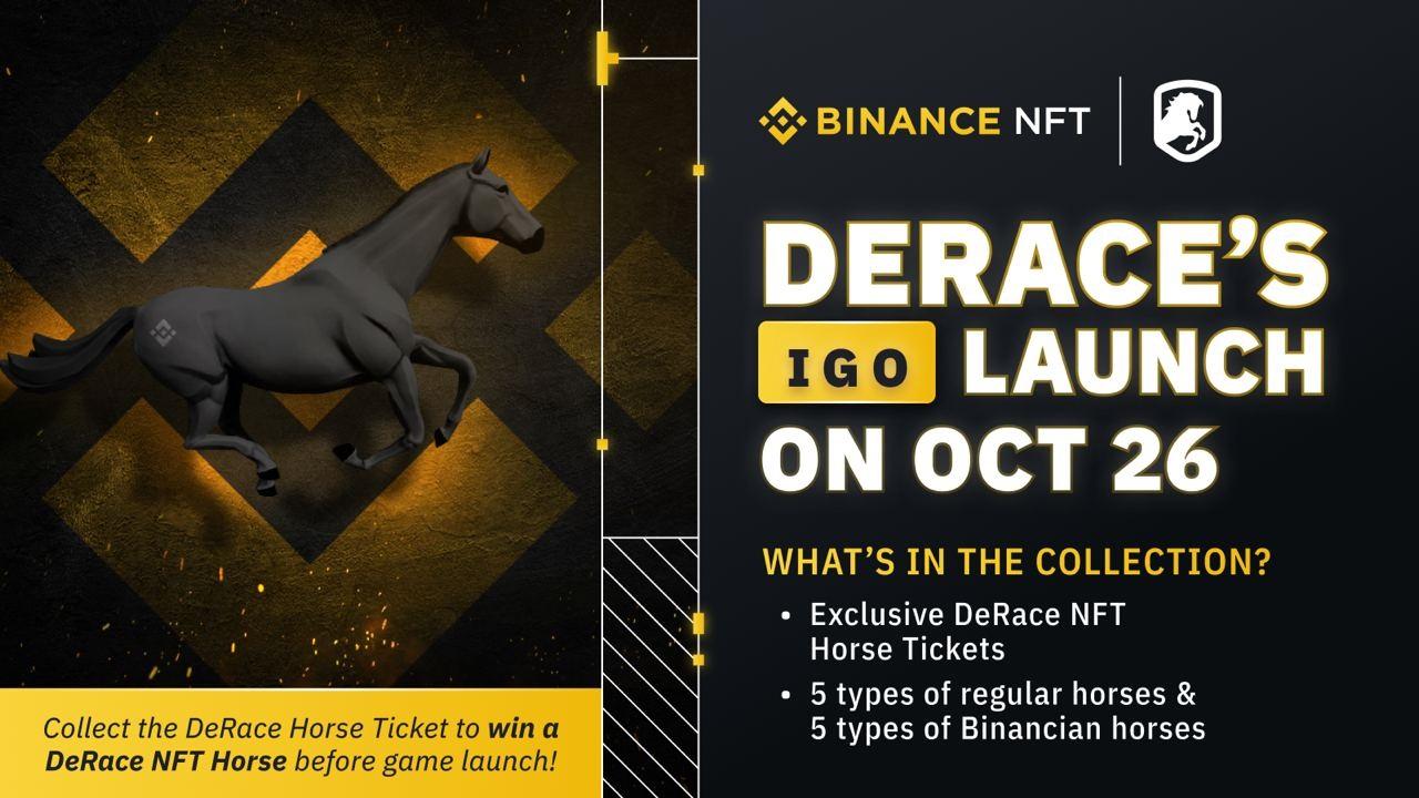 DeRace IGO trên Binance NFT: Hệ sinh thái đua ngựa NFT đang cách mạng hóa thị trường NFT