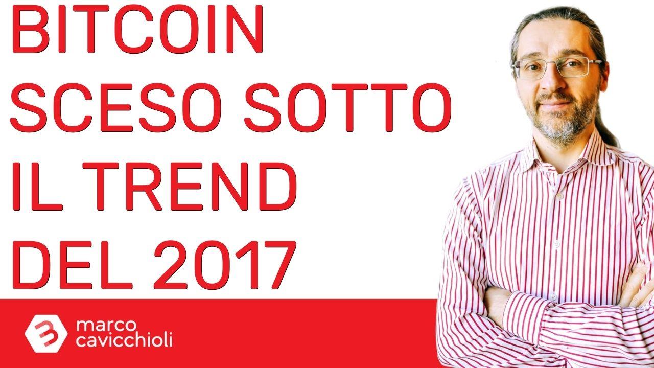 Bitcoin sotto il trend del 2017 (ma poco)