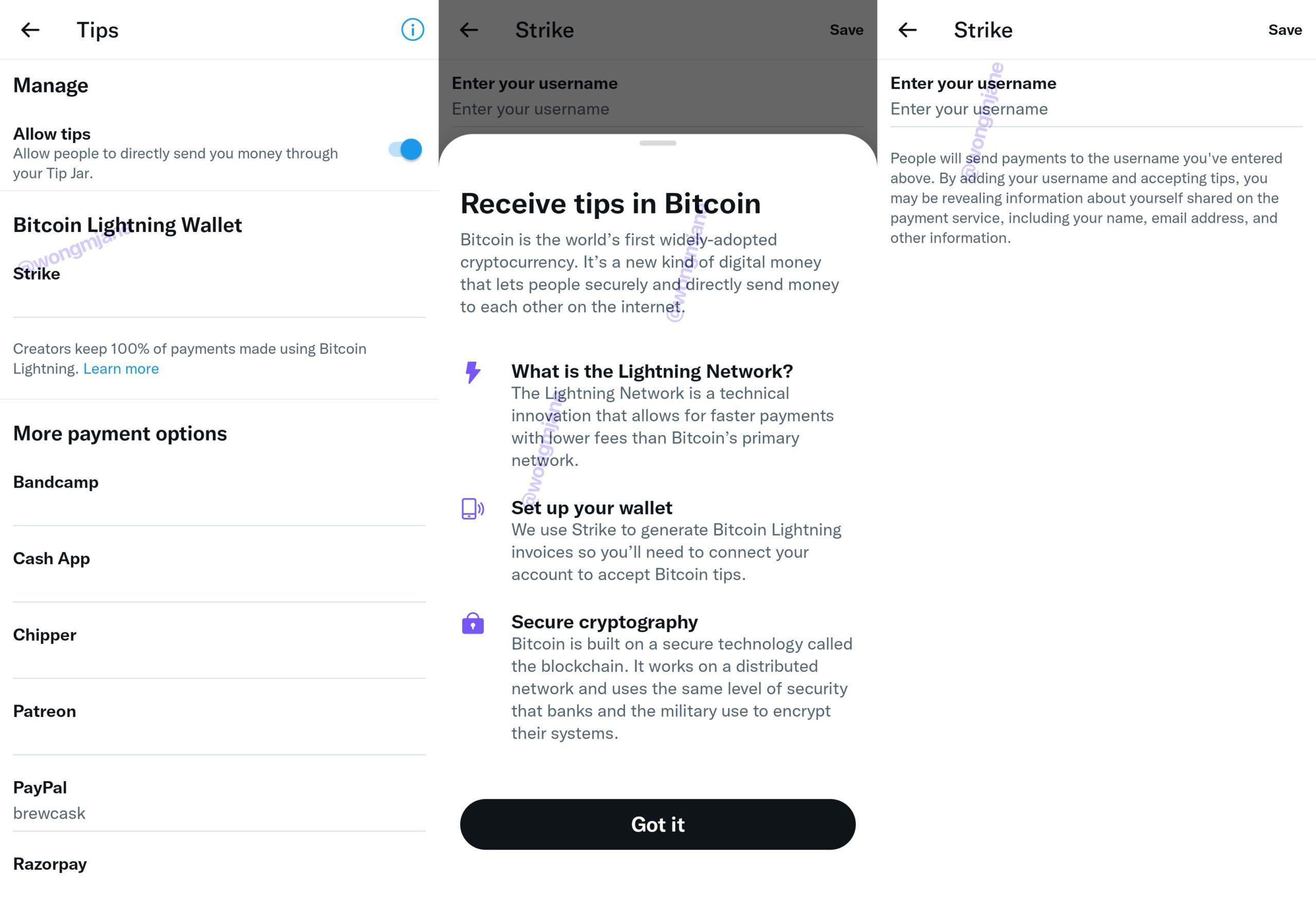Twitter支持閃電網路|正在 Android 系統上測試「比特幣小費抖內」功能