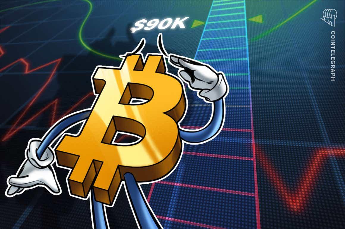 Preço do BTC 'a caminho de US$ 90 mil' - 5 coisas para ficar de olho no Bitcoin esta semana