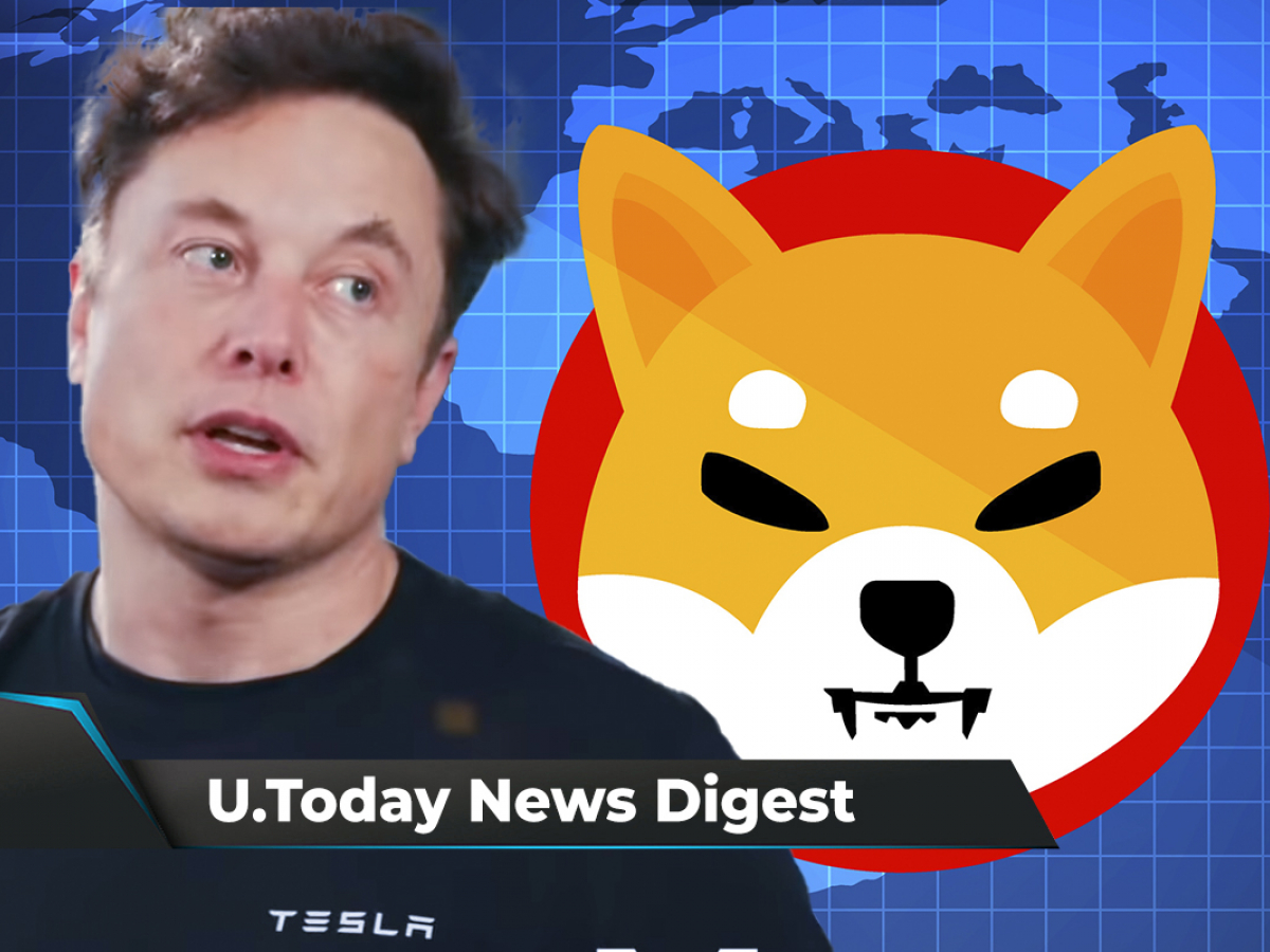 Elon Musk to Become 1st DOGE Trillionaire, SHIB Hits New ATH, Surpasses Ether by Trading Volume: Crypto News Digest by U.Today