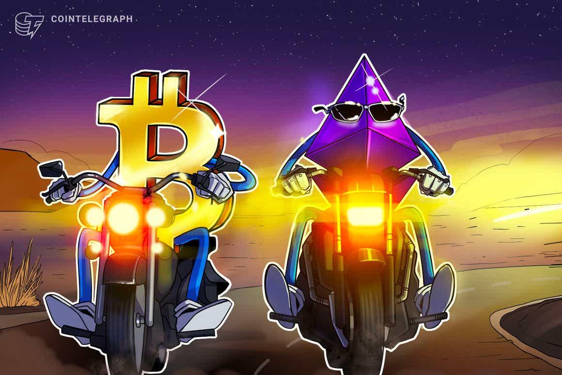 Ethereum mira em rali contra o Bitcoin enquanto o preço do ETH revela divergência otimista