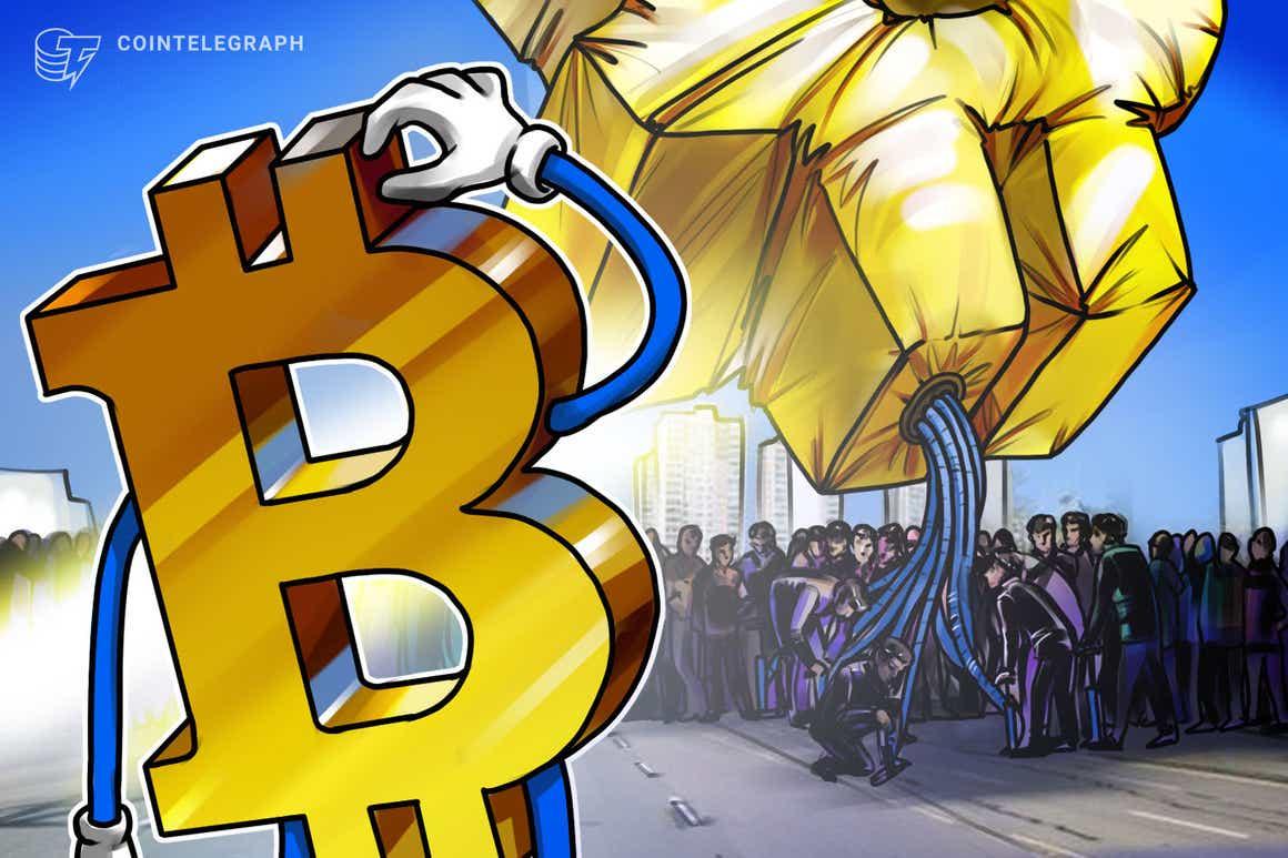 Circa 11.000 entità rappresentano il 55% del volume sulla blockchain di Bitcoin