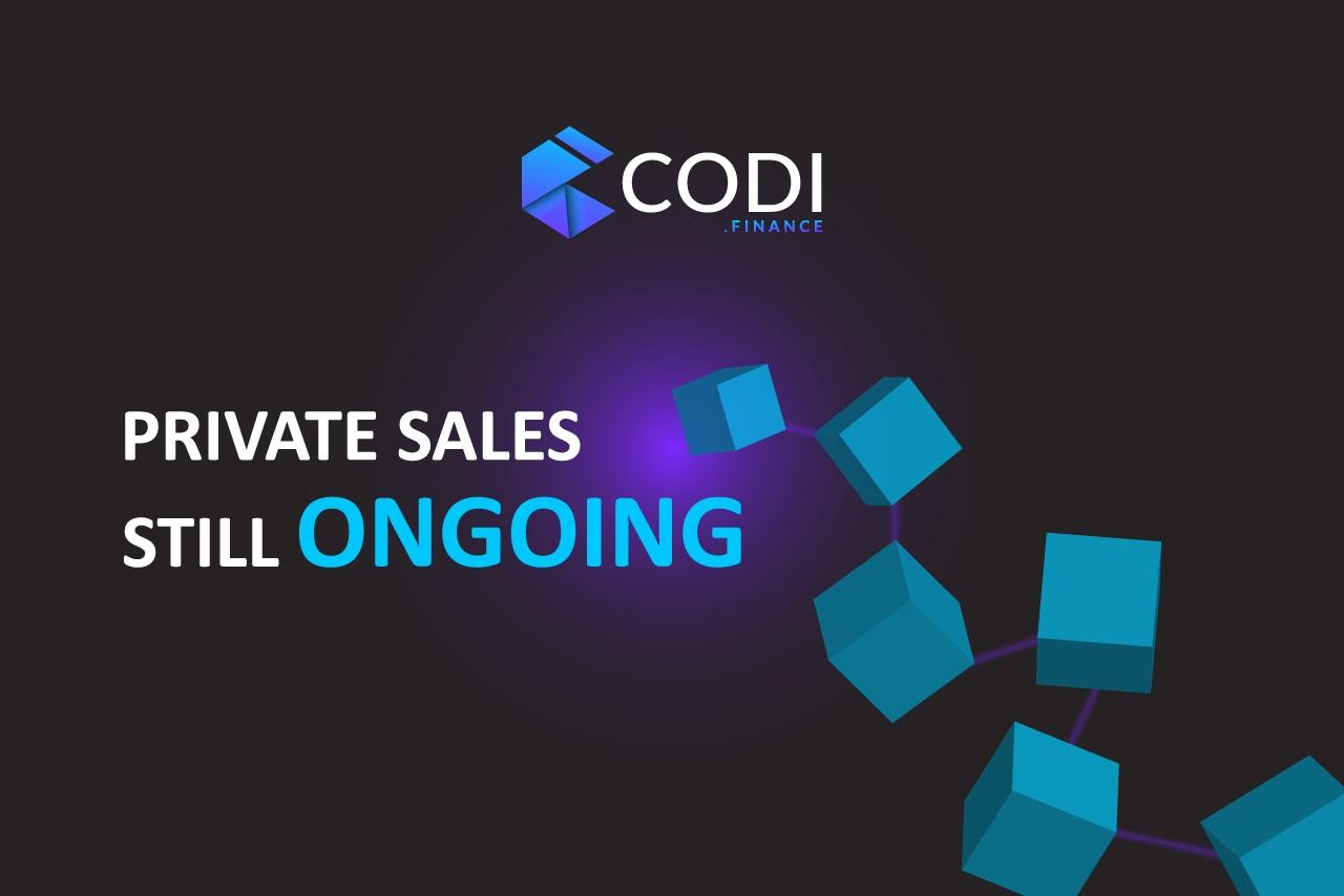 Equipo de CODI anuncia las últimas ventas privadas progamadas para su nuevo token