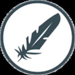 羽毛币 logo