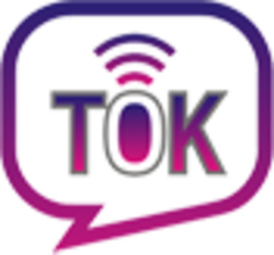 The tok app logo