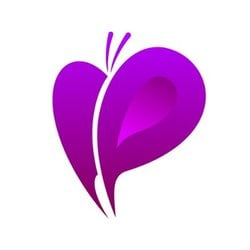 purple butterfly trading logo