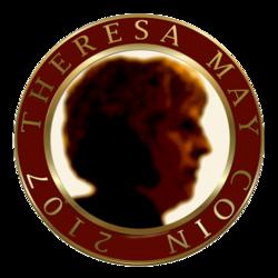theresa may coin logo