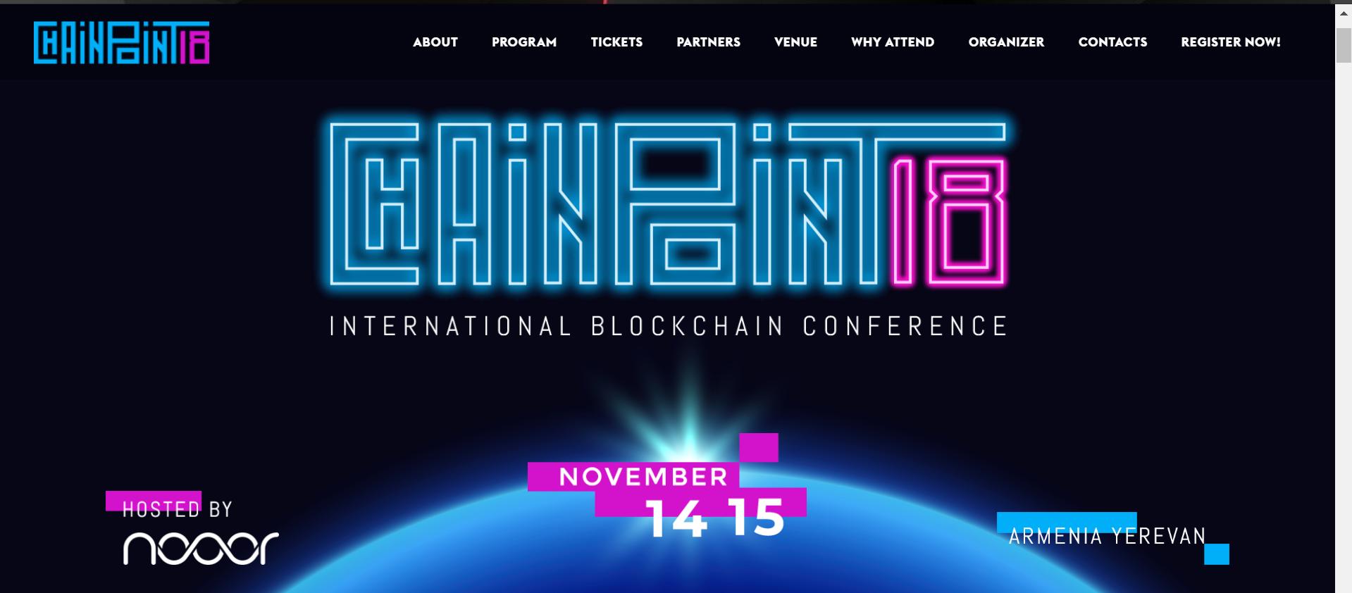 ChainPoint'18 - International Blockchain Conference