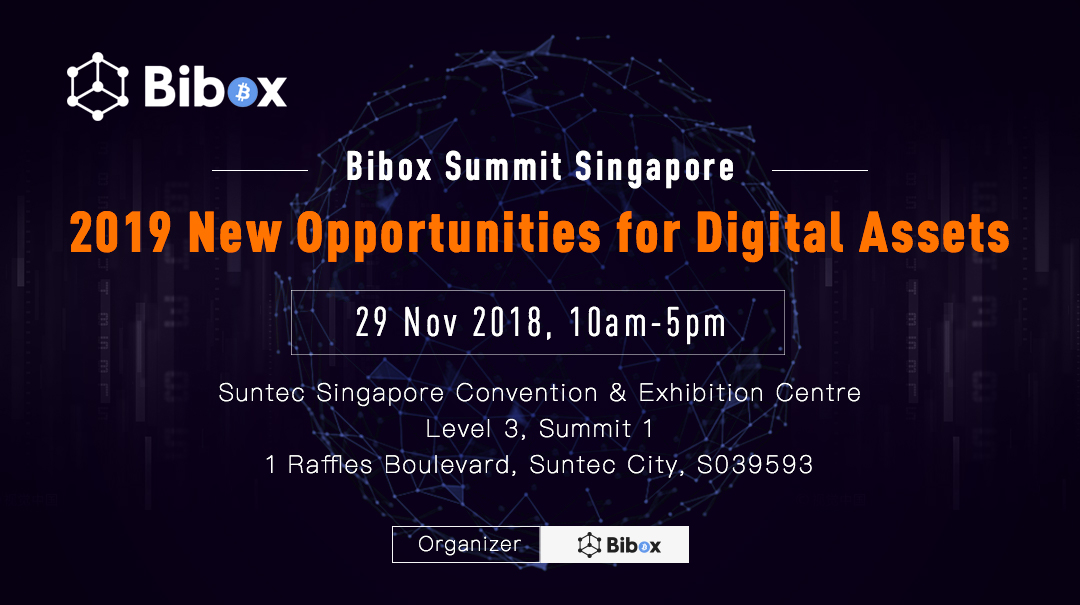 New Opportunities for Digital Assets - Bibox Summit Singapore