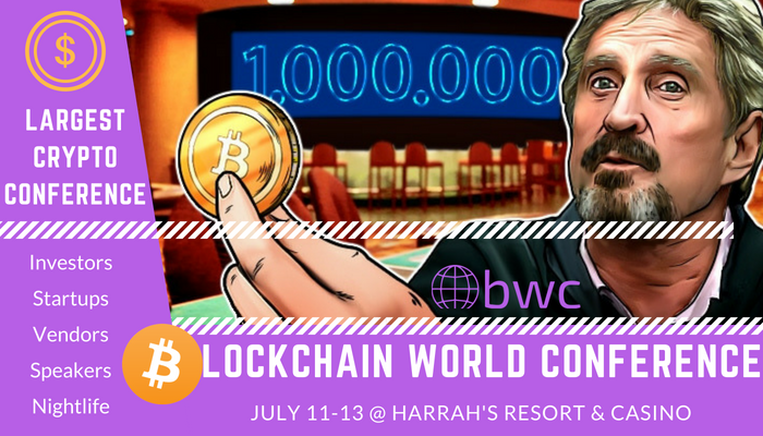 Blockchain world conference banner
