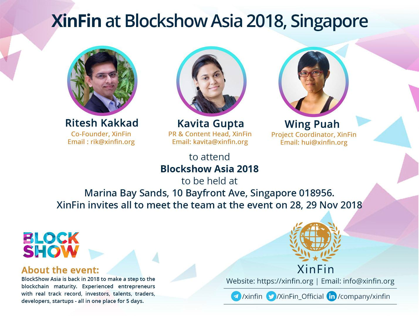 XinFin at BlockShow Asia