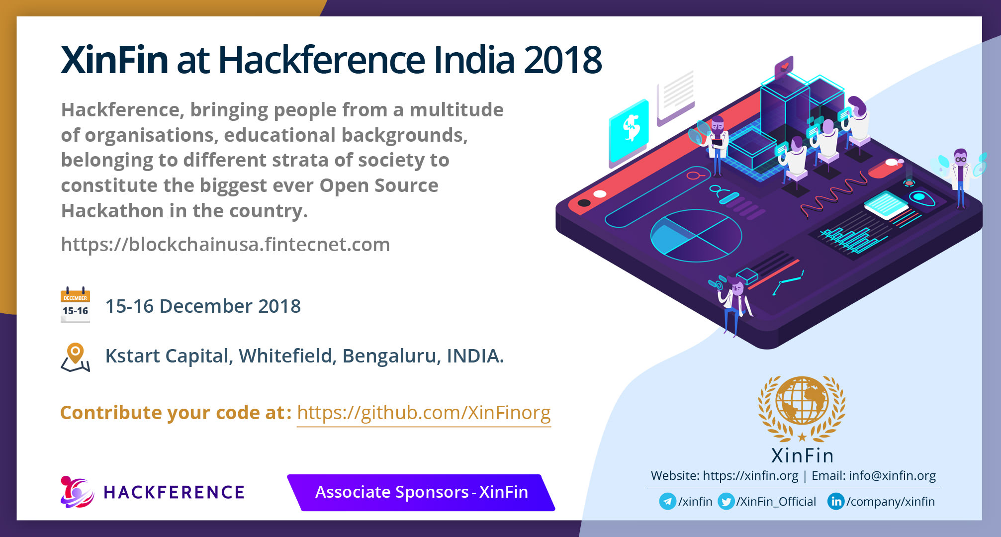 XinFin at Hackference India 2018