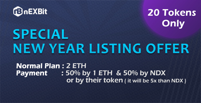 Special New Year Listing Offer for nEXBit.Exchange