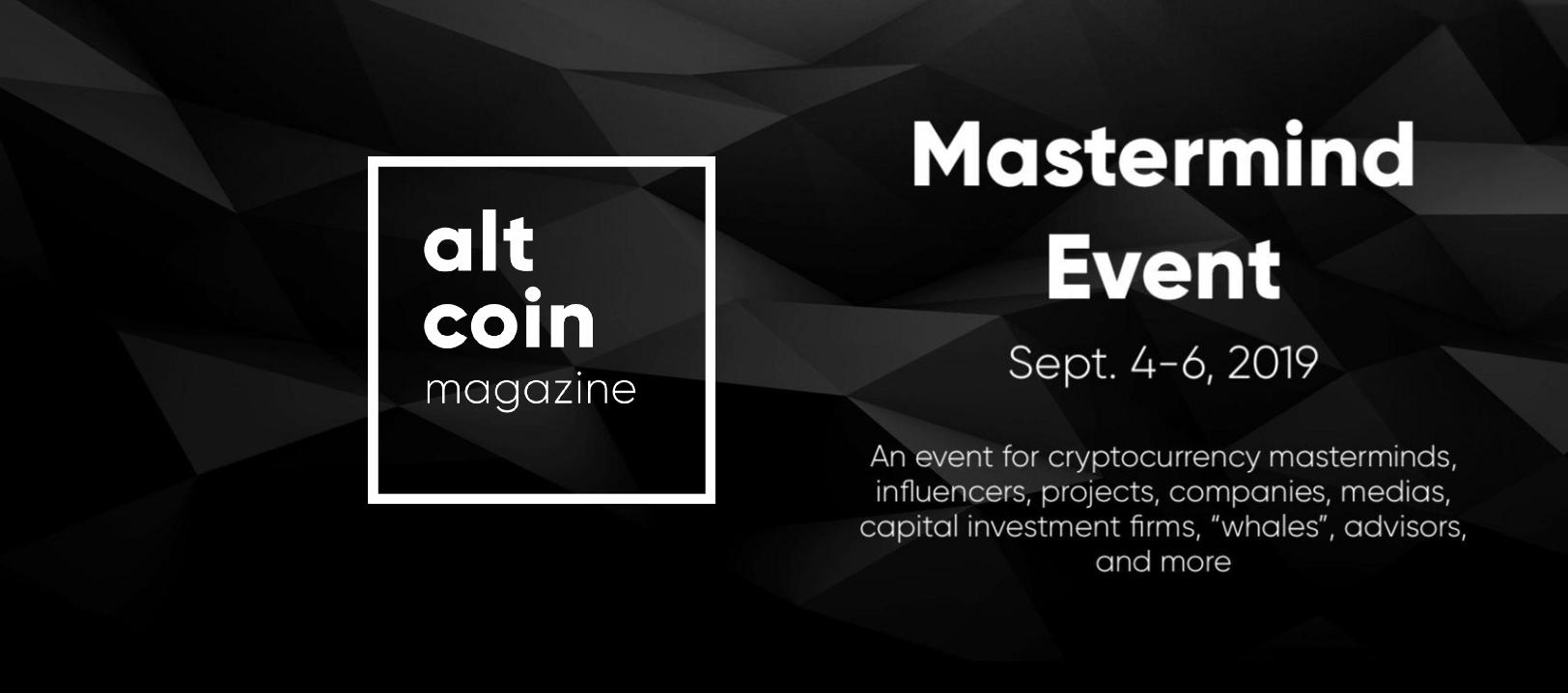 Altcoin Magazine Mastermind Event