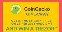 CoinGecko is Giving Away a Trezor!