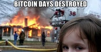 Bitcoin days destroyed 484