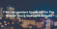 7 Bitcoin Leaders Speak Up On The Bitcoin Block Size Limit Debate