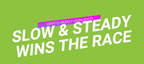 Slow & Steady wins the Race - #CryptoWeeklyHighlights