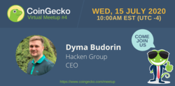 CoinGecko Virtual Meetup Featured Guest: Dyma Budorin (CEO of Hacken Group)