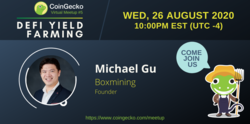 CoinGecko Virtual Meetup Featured Guest: Michael Gu (Founder of Boxmining)
