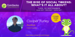 CoinGecko Virtual Meetup Featured Guest: Cooper Turley (Community Lead of Audius)