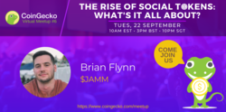 CoinGecko Virtual Meetup Featured Guest: Brian Flynn ($JAMM)