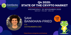 CoinGecko Virtual Meetup Featured Guest: Sam Bankman-Fried (Co-founder and CEO of FTX)