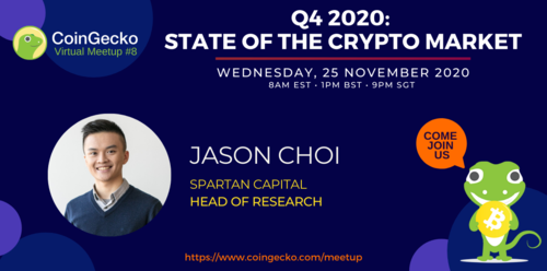 CoinGecko Virtual Meetup Featured Guest: Jason Choi (Head of Research at Spartan Capital)