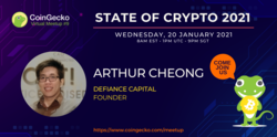 CoinGecko Virtual Meetup Featured Guest: Arthur Cheong (Founder of DeFiance Capital)
