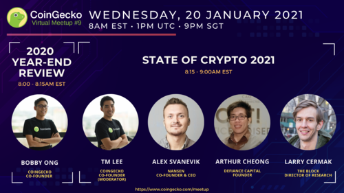2021: The State of Crypto | CoinGecko Virtual Meetup #9