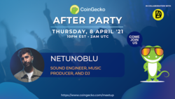 CoinGecko After Party Featured Guest: Netunoblu (Sound Engineer and DJ)