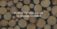 10 Most Upvoted Tweets on Bitcoin Subreddit