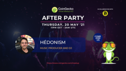 CoinGecko After Party Featured Guest: Hédonism (Music Producer and DJ)